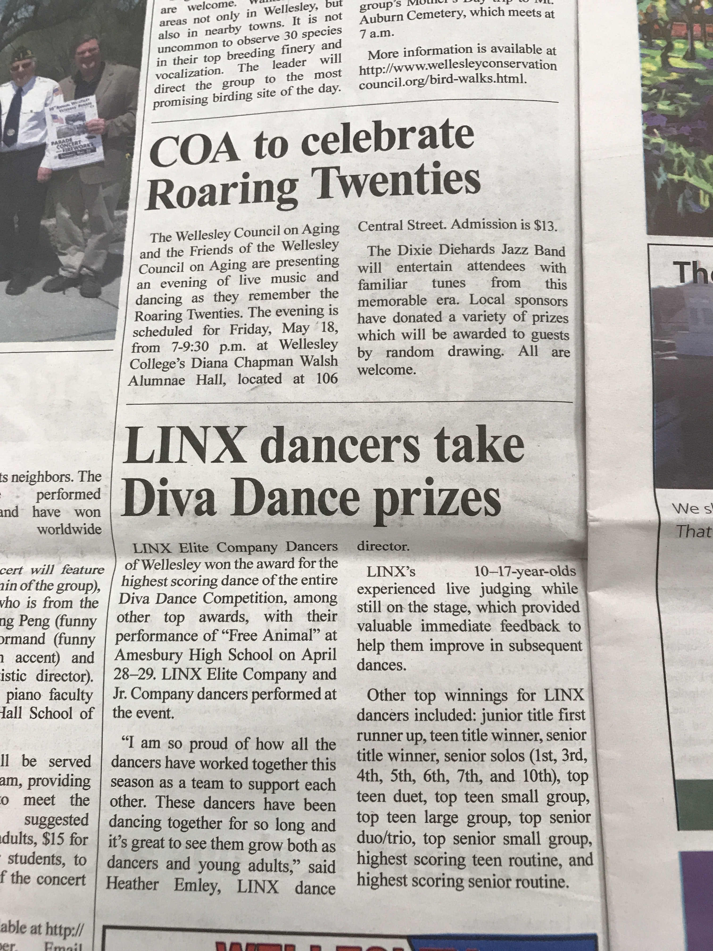 LINX Elite Company Dancers of Wellesley won the award for the highest scoring dance of the entire Diva Dance Competition, among other top awards, with their performance of