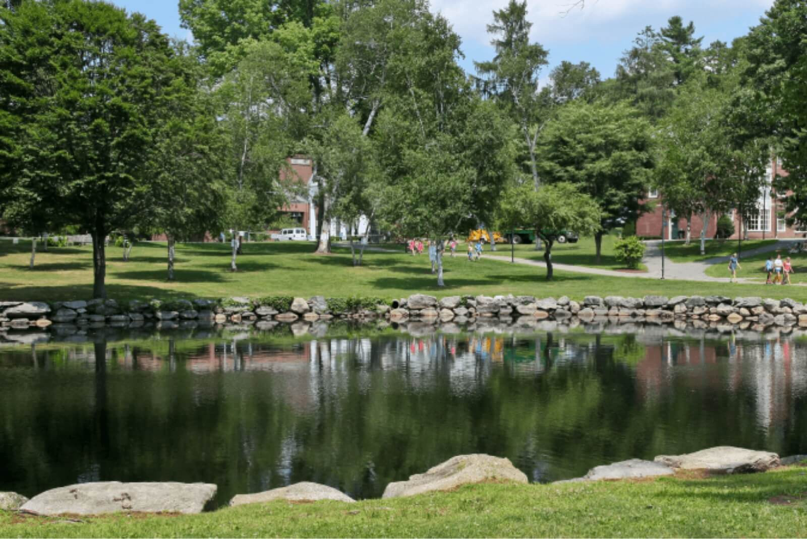 Dana Hall campus pond